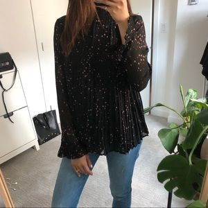 Tops - BNWT Celestial Pleated Blouse XS